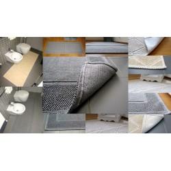 Tappeto Bagno moderno panna o grigio cotone arredo lavabile