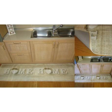 Tappeto shabby Chic di design moderno cuore home beige chiaro cucina arredo  casa - Casa Del Tappeto