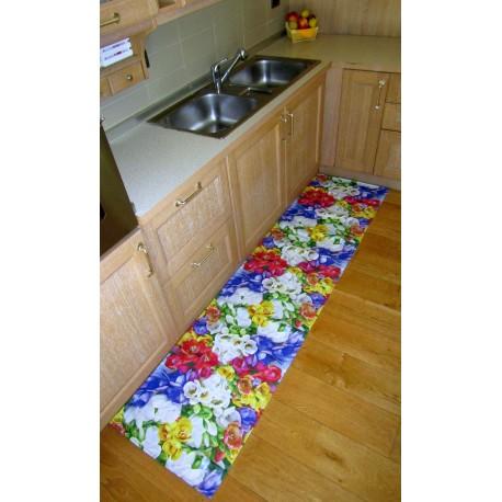 Tappeto moderno cucina stile floreale cotone antiscivolo bagno ingresso  camera - Casa Del Tappeto